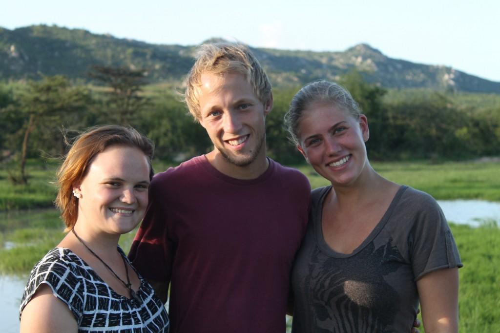 Das sind Kathrin, Chistoph und ich